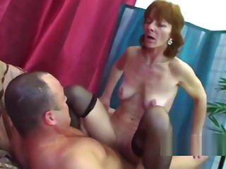 Naughty granny riding monster boner