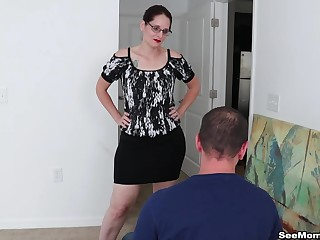 Busty mature Christine Sapphire loves to be on say no to knees sucking