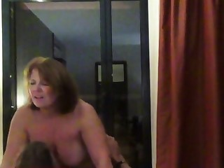 Helen gets her ass fucked in personify be worthwhile for a catch hotel window