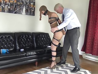 Aj encased and taped