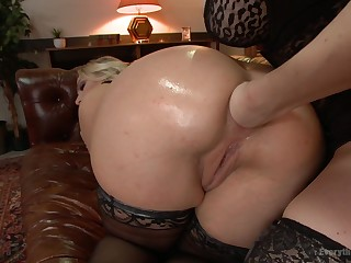 A remarkable lesbian fist fucking anal chapter in dirty XXX