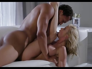 Busty blonde woman, Alexis Fawx is sucking her students dick, space fully he is moaning from pleasure